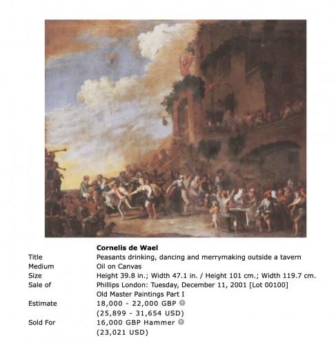 Paintings & Drawings  - Cornelis de Wael (1592-1662)