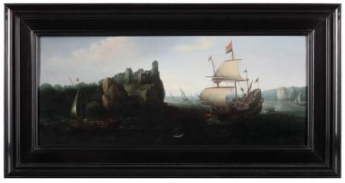 Marine - Cornelis Hendricksz. Vroom (1615 Danzig -1661 Haarlem) - Paintings & Drawings Style