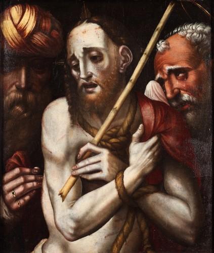 The mocking of Christ, workshop of Luis de Morales