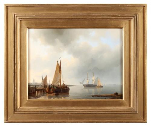 Ships before the harbor - Abraham Hulk Senior (1813-1897) - Paintings & Drawings Style