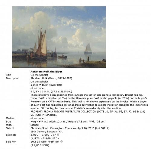 19th century - Ships before the harbor - Abraham Hulk Senior (1813-1897)