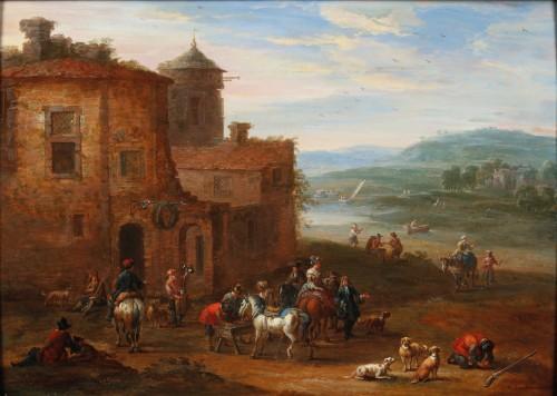A moment of rest - Matthys Schoevaerts (1665-1702)