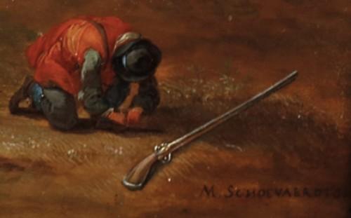 A moment of rest - Matthys Schoevaerts (1665-1702) -