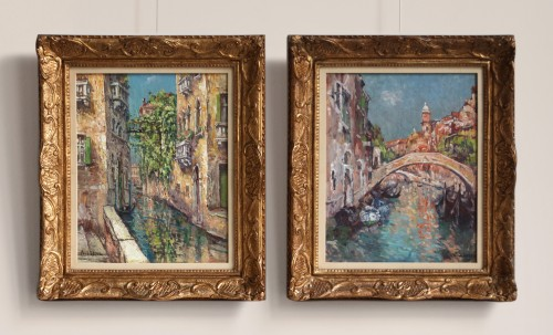 A pair of Venice views  - Paul Leduc (1876-1943) - Paintings & Drawings Style