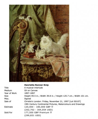 - Playfull youth  - Henriette Ronner (1821-1909)