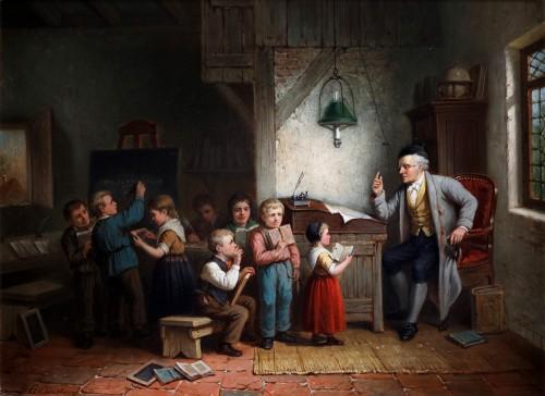 The classroom - Jan Jacobs Matthijs Damschreuder (1825-1905)