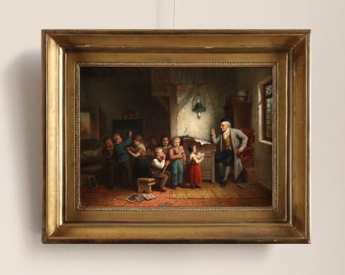 Paintings & Drawings  - The classroom - Jan Jacobs Matthijs Damschreuder (1825-1905)