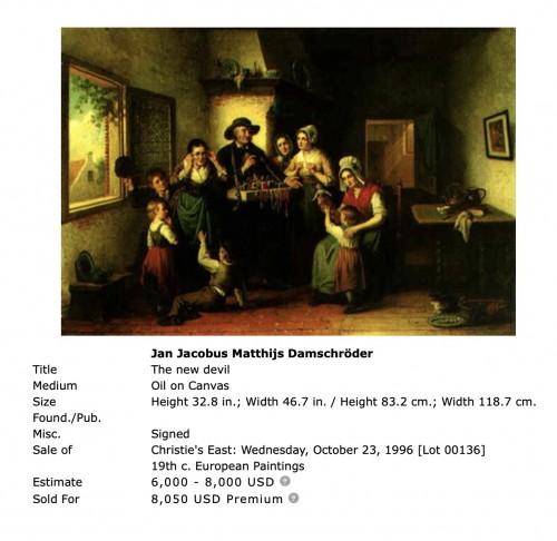 19th century - The classroom - Jan Jacobs Matthijs Damschreuder (1825-1905)
