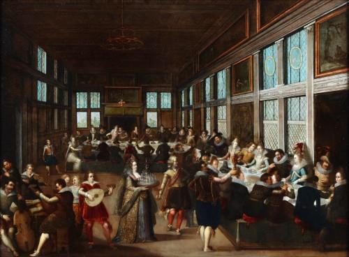 The wedding feast by Louis de Caullery  (circa 1580–1621)