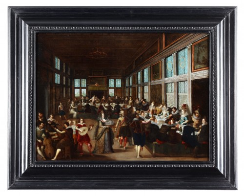 The wedding feast by Louis de Caullery  (circa 1580–1621)  - Paintings & Drawings Style