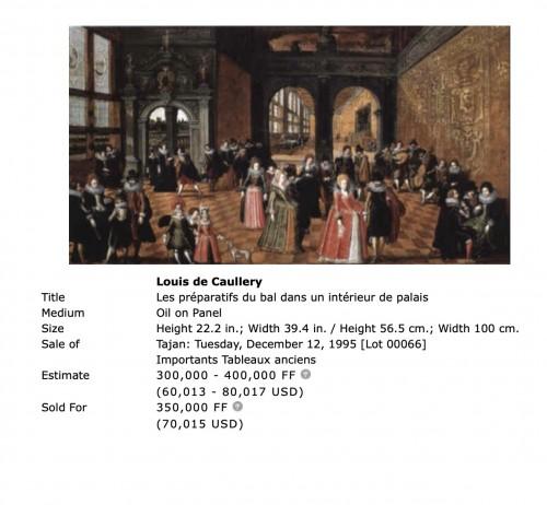 The wedding feast by Louis de Caullery  (circa 1580–1621)  -