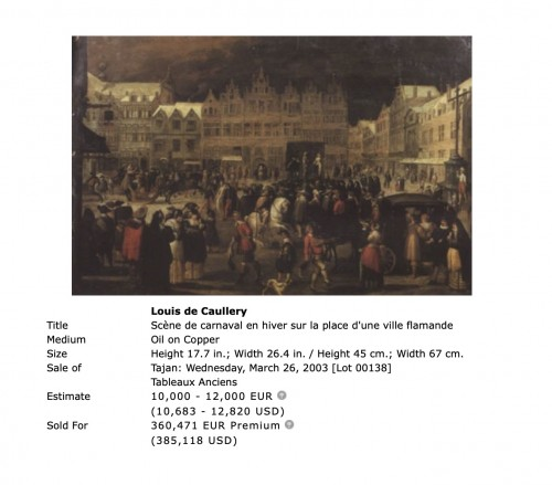 Antiquités - The wedding feast by Louis de Caullery  (circa 1580–1621)