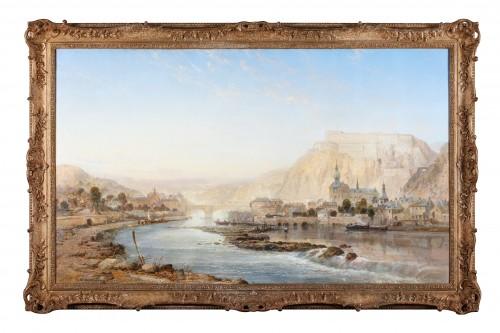 Paintings & Drawings  - Vue of Dinant - James R Webb (1835–1895)