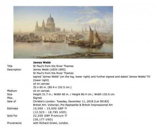 19th century - Vue of Dinant - James R Webb (1835–1895)
