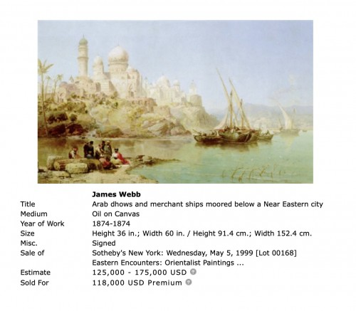 Vue of Dinant - James R Webb (1835–1895)  -
