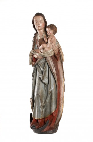 A group representing the Virgin and Child. - Sculpture Style