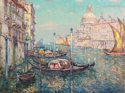 Paul Leduc (1876-1943) - View of Venice with Canal Grande and the basilica Santa Maria della Salute