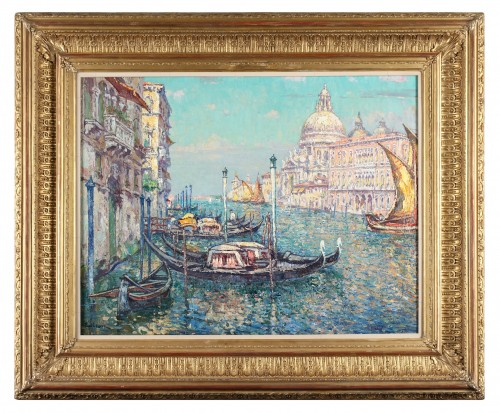 Paul Leduc (1876-1943) - View of Venice with Canal Grande and the basilica Santa Maria della Salute - Paintings & Drawings Style