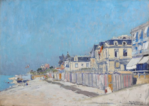 Beach at Sainte-Adresse - Paul Mathieu (1872-1932)