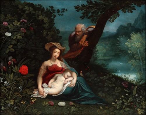 Holy family, the rest on the flight to Egypt - Pieter van Avont (1600- 1652)