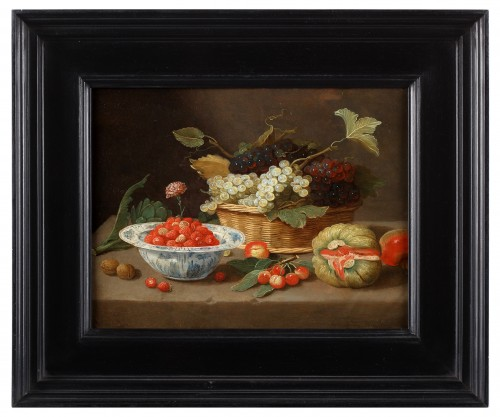 A Still life by the pseudo Jan Van Kessel the Younger (1654 - 1708) - Paintings & Drawings Style