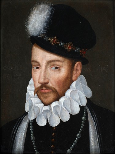 Portrait of Charles IX, count of Valois