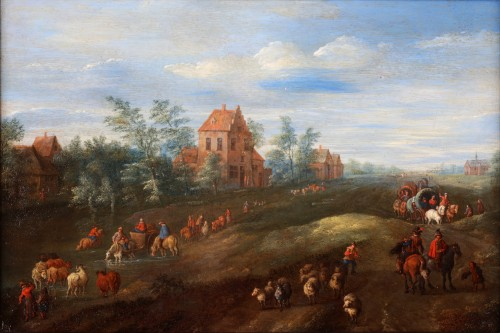 A busy road by Jan Frans Besschey