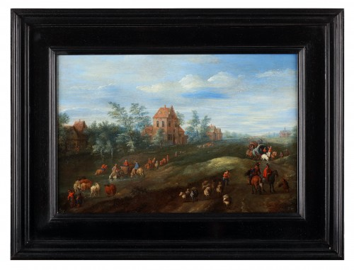 Paintings & Drawings  - A busy road by Jan Frans Besschey