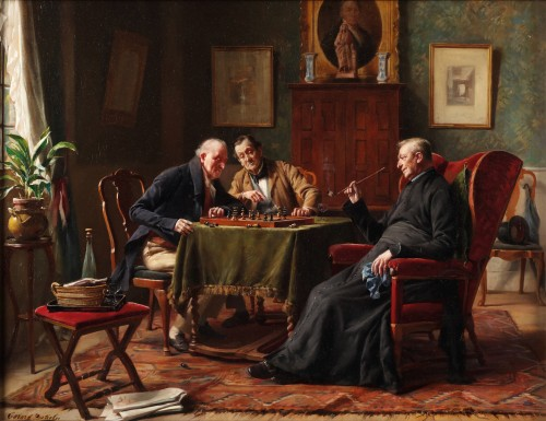 The game of chess - Gerard Portielje (1856-1929)