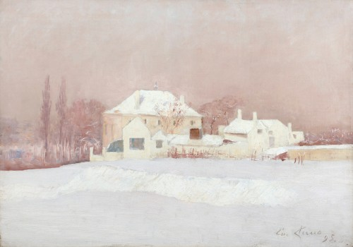 House in the snow - Emile Claus (1849-1924)