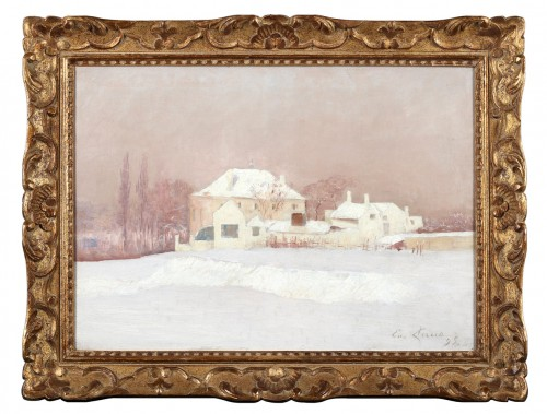 House in the snow - Emile Claus (1849-1924) - Paintings & Drawings Style