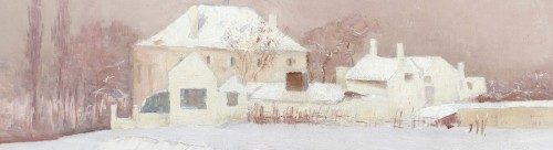 House in the snow - Emile Claus (1849-1924) -