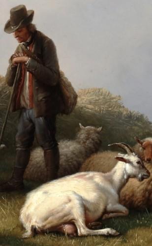 A moment of rest - Eugene Verboeckhoven (1798-1881) -
