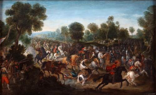 A cavalerie attack - Pieter Meulener (1602-1654)