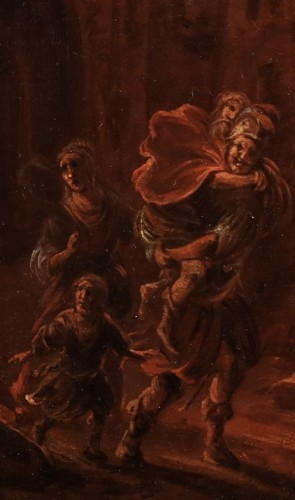 Aeneas and his family fleeing Troy - D. Willing -