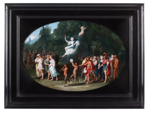 Venus and Cupid, surrounded by couples, satyrs and the Olympic gods - Paintings & Drawings Style