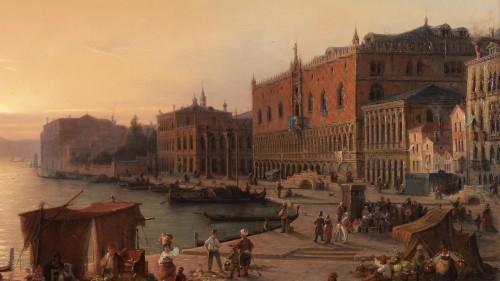 Paintings & Drawings  - Louis Mecklenburg (1820-1882)- Venice