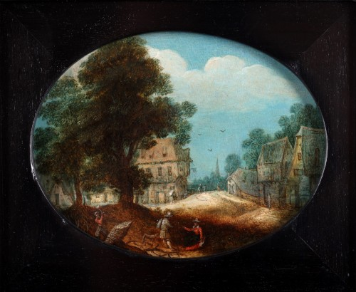 Adriaen van Stalbemt, an animated village town