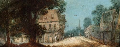 Paintings & Drawings  - Adriaen van Stalbemt, an animated village town