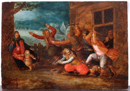 David Vinckeboons (1576 - 1629) - The Flemish peasants casting out the Spanish invaders.