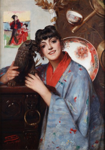 Chinese girl - Léon Herbo (1850-1907)
