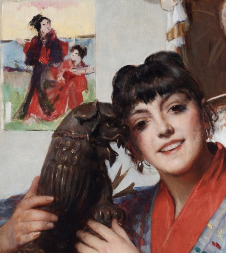 Paintings & Drawings  - Chinese girl - Léon Herbo (1850-1907)