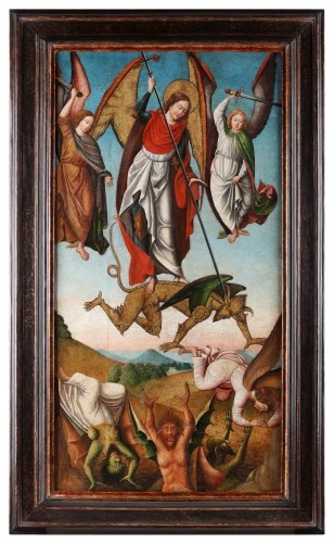 Saint Michael slaying the Devil - Paintings & Drawings Style