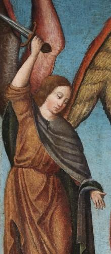 Saint Michael slaying the Devil -