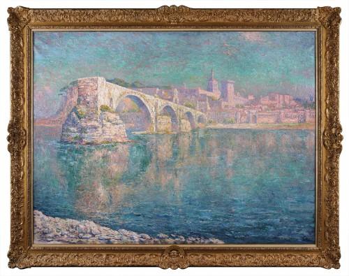 The bridge of Avignon - Paul Leduc (1876-1943) - Paintings & Drawings Style