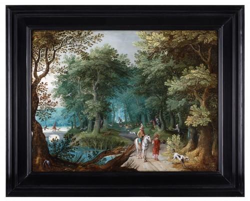 Paintings & Drawings  - Landscape with deer hunt - attributed to Willem van den Bundel (1575-1655)