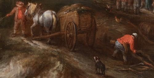 Antiquités - An animated landscape with peasants at work - Théobald Michau (1676-1765)
