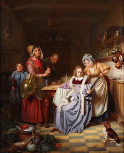 Grocery Shopping - Josephus Laurentius Dyckmans (Lier 1811- Antwerp 1888)  - Paintings & Drawings Style