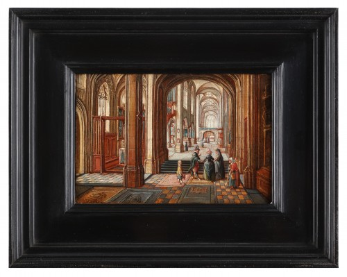 Paintings & Drawings  - A gothic church interior - attributed to Hendrick van Steenwijck II
