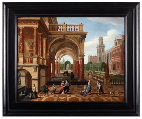 Paintings & Drawings  - Pieter Neefs II and Frans Francken III  - Activities on the court of a royal palace